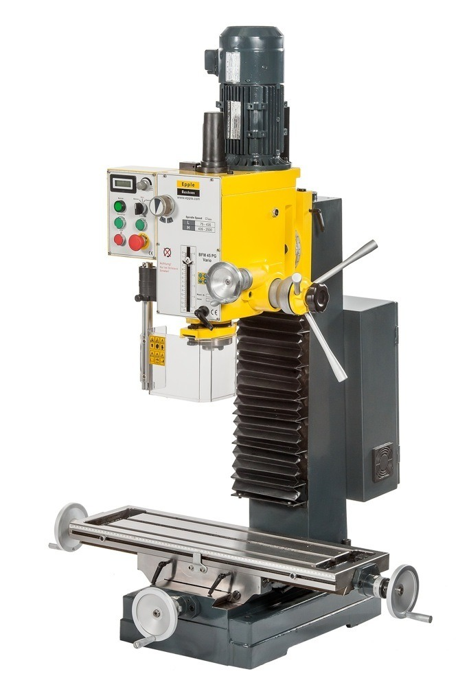 Epple Maschinen BFM 45 PGV Vario φρεζοδράπανο 400V / 1,5 kW