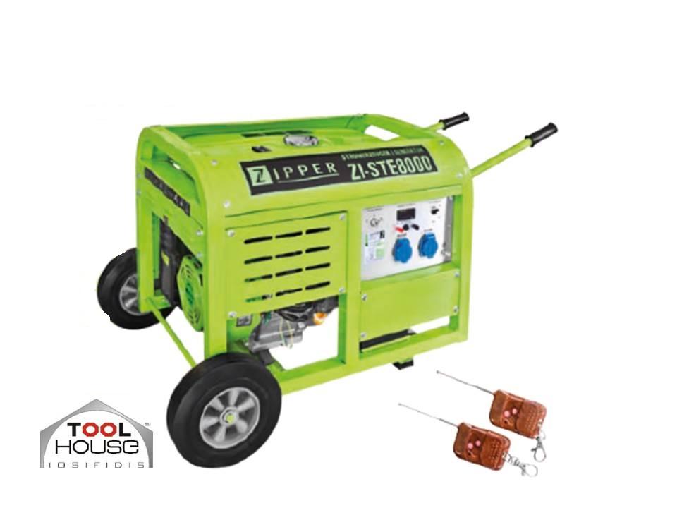 ZIPPER MASCHINEN ZI-STE8000 γεννήτρια βενζίνης 10,0KVA & REMOT