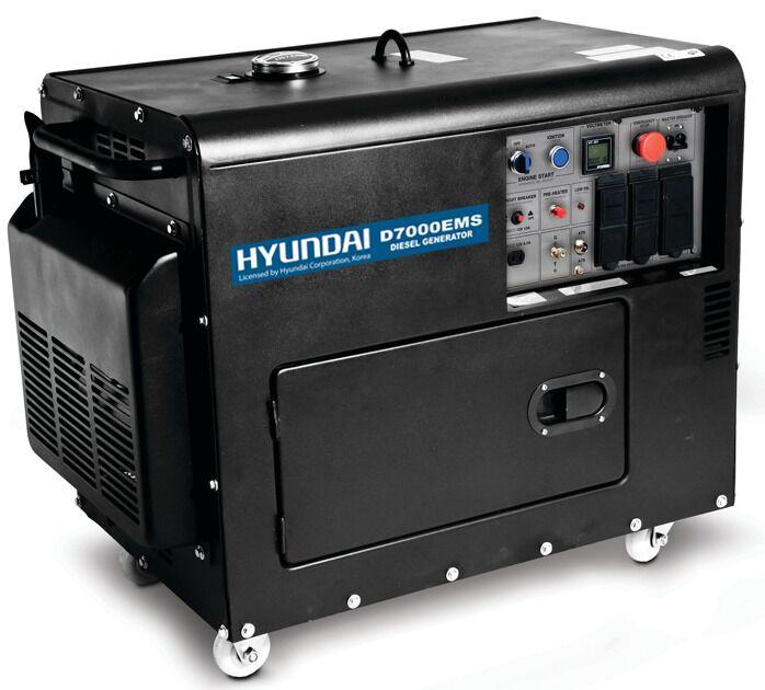 HYUNDAI D7000EMS - 40C22 Γεννήτρια πετρελαίου 7,0KVA - ΑΘΟΡΥΒΗ