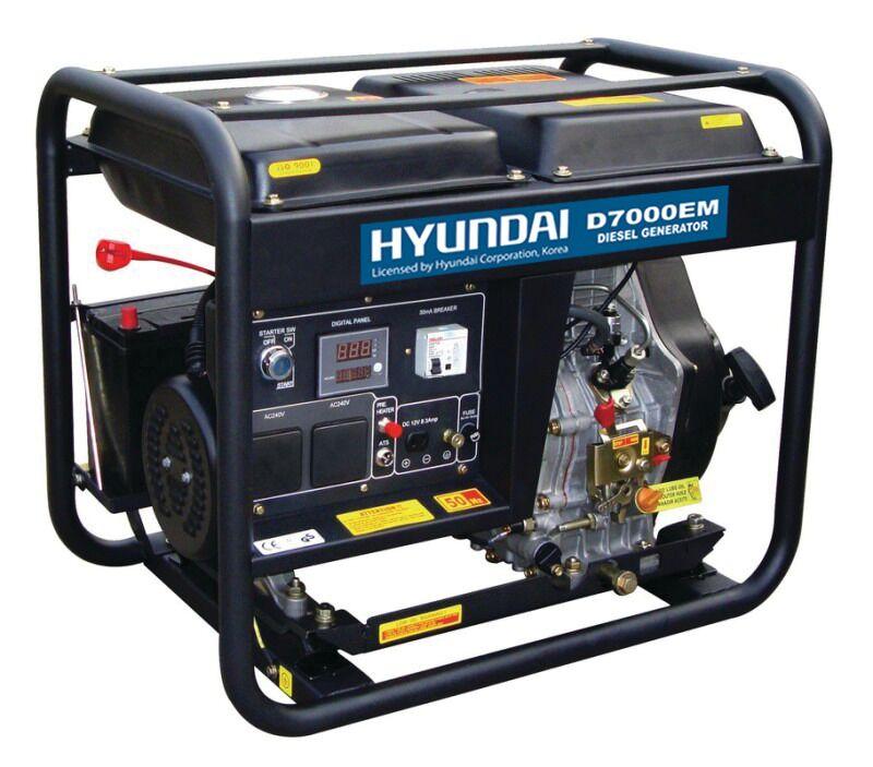 HYUNDAI D7000EM - 40C20 Γεννήτρια πετρελαίου 7,0KVA
